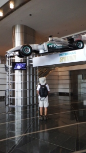 One of the Petronas racing cars
