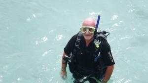 Bill in his dive kit