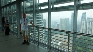 Bill on the skybridge