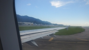We taxied down the runway