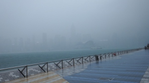 White out along the Tsim Sha Tsui promenade