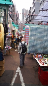 Wandering through the market stalls