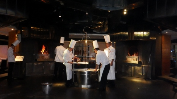 The chefs in the entrance