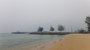 A hazy Tioman beach