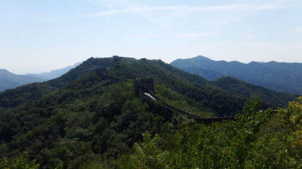 Our first sight of the Great Wall