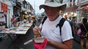 Bill enjoying some noodles