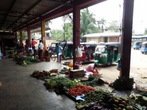 Tuk tuks at the back of the market