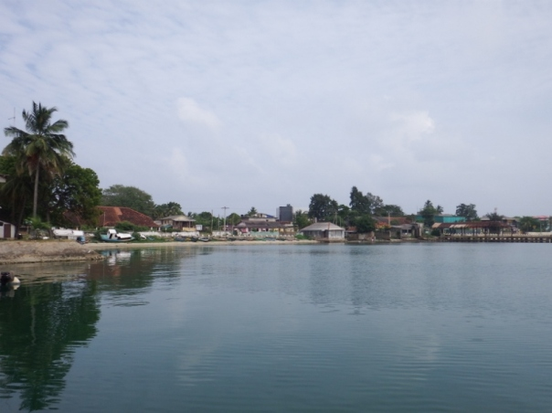 The view from the jetty