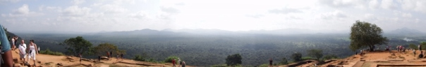 Panoramic shot of the view