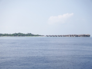 One of the batches of overwater bungalows