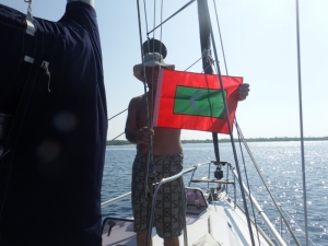 Bill raising the Maldives courtesy flag