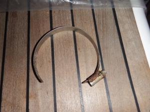 Broken jubilee clip.