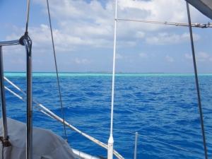 Anchored off the Viha Faru reef