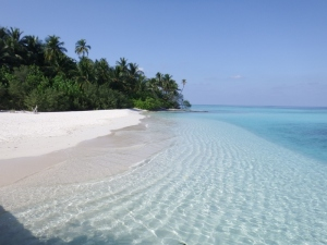 The beach on Asdhoo island