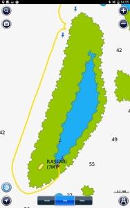 The Rasfari reef. Mantas at north west corner anchored in south east