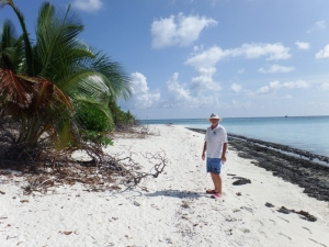 Bill walking on the island