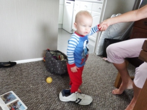 Logan with Bill's shoe on