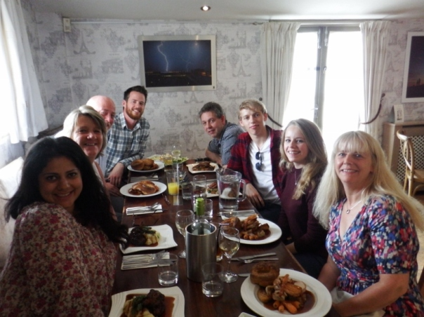 Sonal, Sue, Bill, Thomas, Alan, Tristan, Jasmine and Amanda