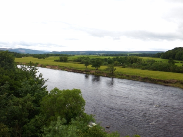 Beautiful countryside either side of the river Spey