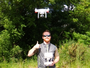 James and the drone