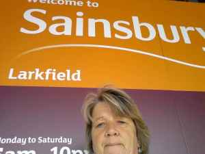 my selfie outside Sainsburys