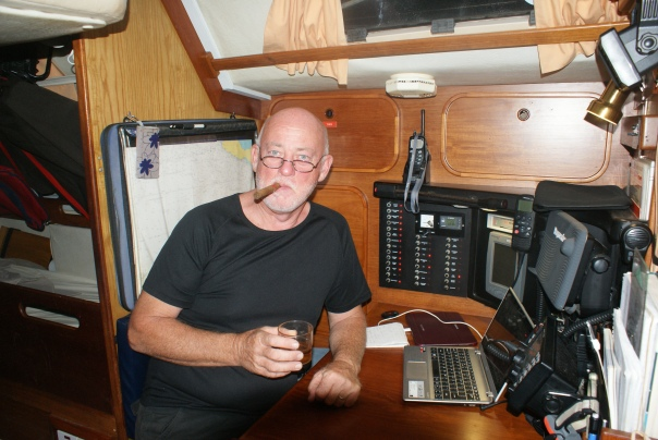 Bill having a well deserved whisky and the cigar he'd been saving. x