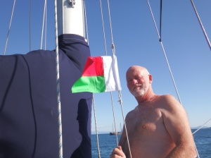 Hoisting the Madagascar flag