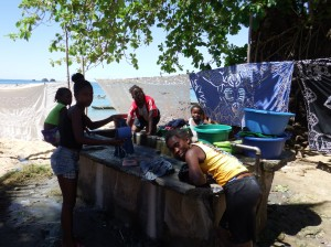 Ladies doing their washing