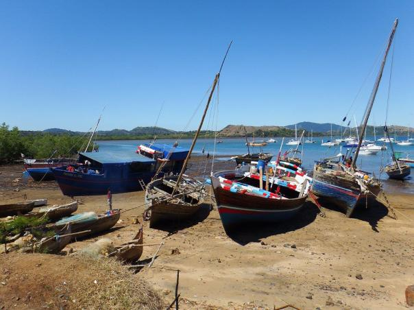 Dhows waiting for the tide