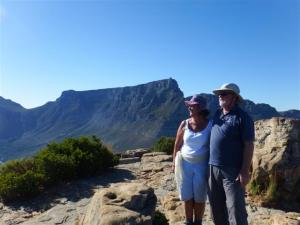 Standing on top of the Lion's head with Table mountain in the background.
