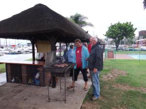 Bill and Kevin manning the braai