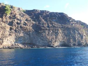 The beautiful cliffs on the approach to the mooring field.