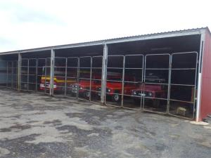 Fire brigade vehicles.
