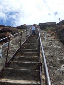 Half way down